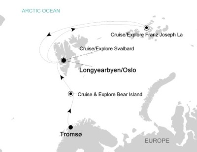 Luxury Cruises Just Silversea Silver Explorer July 29 August 8 2027 Tromso, Norway to Longyearbyen, Svalbard And Jan Mayen