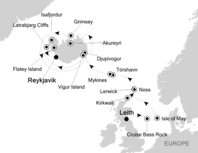 SINGLE Cruise - Balconies-Suites Silversea Silver Explorer June 19-30 2020 Leith, United Kingdom to Reykjavík, Iceland