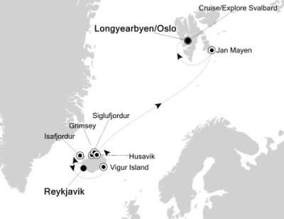 Silversea Silver Explorer June 30 July 12 2024 Reykjavík, Iceland to Longyearbyen, Svalbard And January Mayen