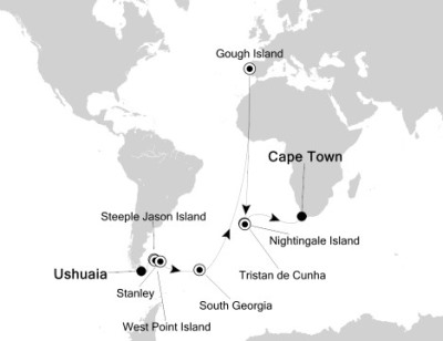 Silversea Silver Explorer March 8-30 2017 Ushuaia, Argentina to Cape Town, South Africa