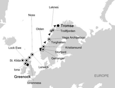 1 - Just Silversea Silver Explorer May 31 June 11 2016 Greenock (Glasgow), to Tromso