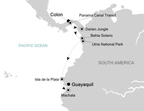 Luxury Cruises Just Silversea Silver Explorer October 17-25 2027 Colón, Panama to Guayaquil, Ecuador