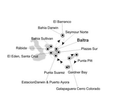 Singles Cruise - Balconies-Suites Silversea Silver Galapagos April 23-30 2019 Baltra, Galapagos to Baltra, Galapagos