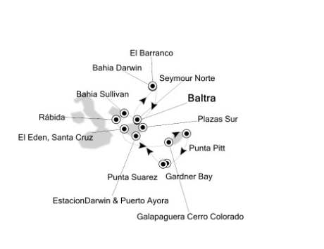 1 - Just Silversea Silver Galapagos April 23-30 2016 Baltra, Galapagos to Baltra, Galapagos