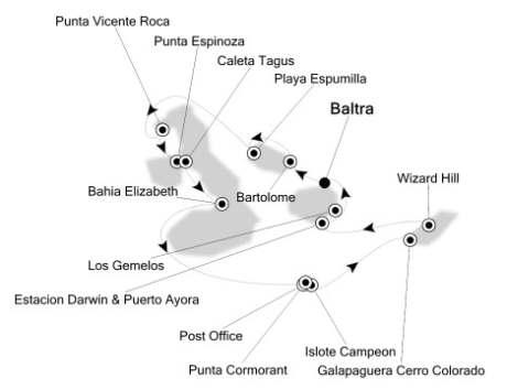 Singles Cruise - Balconies-Suites Silversea Silver Galapagos February 4-11 2020 Baltra, Galapagos to Baltra, Galapagos