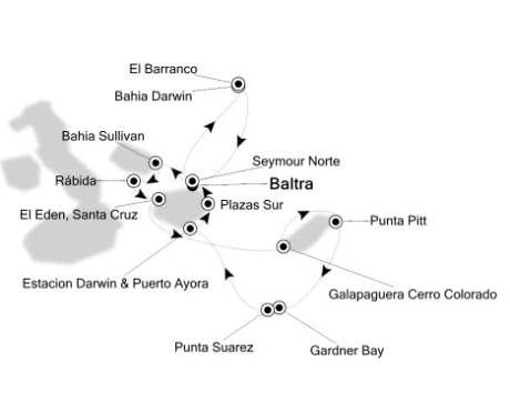 Singles Cruise - Balconies-Suites Silversea Silver Galapagos May 20-27 2020 Baltra, Galapagos to Baltra, Galapagos