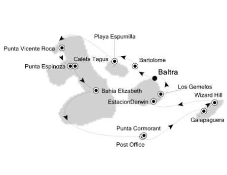 LUXURY CRUISES - Penthouse, Veranda, Balconies, Windows and Suites Silversea Silver Galapagos September 24 October 1 2019 Baltra, Galapagos to Baltra, Galapagos
