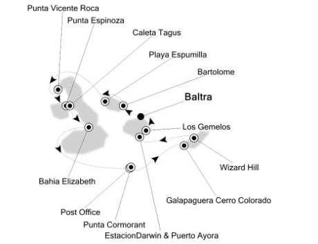 Singles Cruise - Balconies-Suites Silversea Silver Galapagos September 3-10 2019 Baltra, Galapagos to Baltra, Galapagos