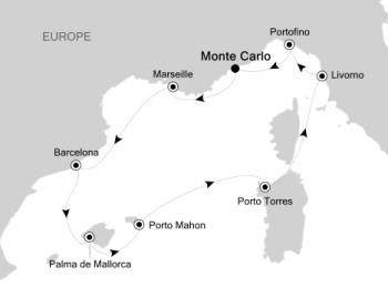 Luxury Cruises Just Silversea Silver Muse April 10-18 2027 Monte Carlo, Monaco to Monte Carlo, Monaco