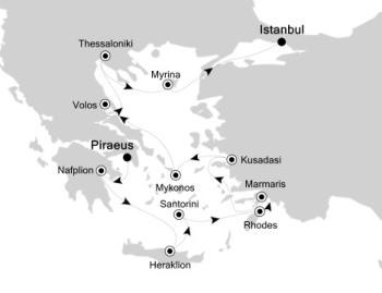 Luxury Cruises Just Silversea Silver Muse July 15-27 2027 Athens (Piraeus), Greece to Istanbul, Turkey