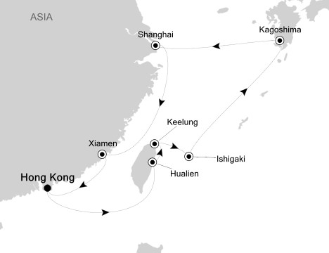SINGLE Cruise - Balconies-Suites Silversea Silver Shadow March 8-22 2019 Hong Kong to Hong Kong