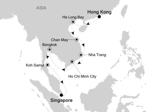 1 - Just Silversea Silver Shadow November 3-17 2017 Hong Kong, China to Singapore, Singapore