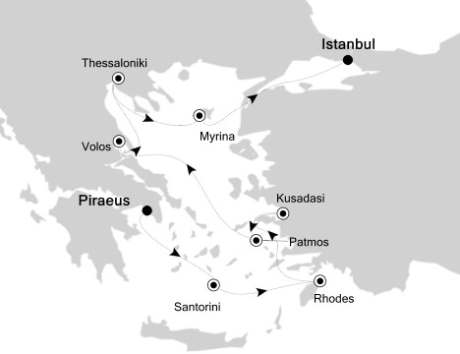 SINGLE Cruise - Balconies-Suites Silversea Silver Spirit August 31 September 9 2019 Piraeus, Athens to Istanbul