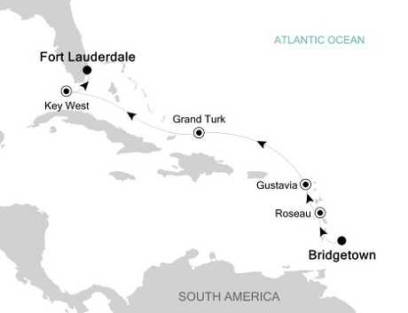 1 - Just Silversea Silver Spirit December 29 2016 January 5 2017 Bridgetown to Fort Lauderdale, Florida