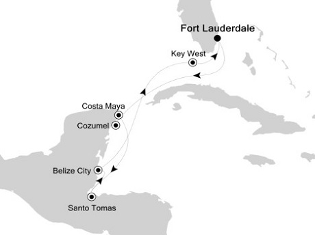 1 - Just Silversea Silver Spirit January 7-15 2016 Fort Lauderdale, Florida to Fort Lauderdale, Florida