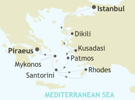 SINGLE Cruise - Balconies-Suites Silversea Silver Spirit July 29 August 5 2019 Istanbul to Piraeus, Athens