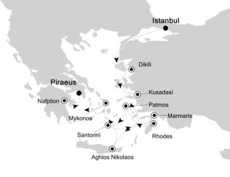 1 - Just Silversea Silver Spirit June 11-21 2016 Istanbul to Athens (Piraeus), Greece