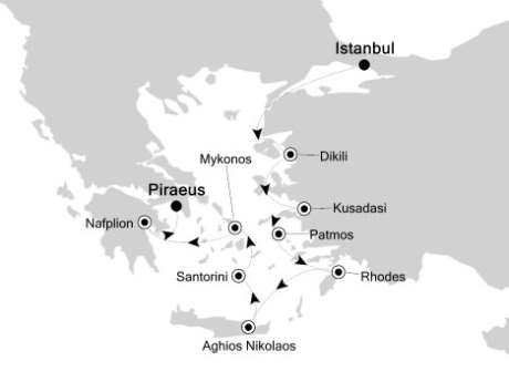 World CRUISE SHIP BIDS - Silversea Silver Encore June 18-27 2022 Istanbul, Turkey to Piraeus, Greece
