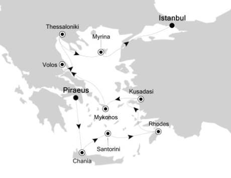 Silversea Silver Spirit June 27 July 6 2017 Piraeus, Greece to Istanbul, Turkey
