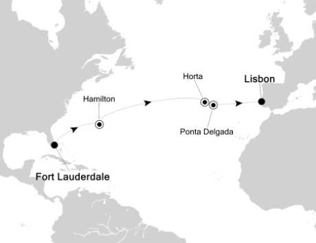 SINGLE Cruise - Balconies-Suites Silversea Silver Spirit March 31 April 13 2020 Fort Lauderdale, FL, United States to Lisbon, Portugal
