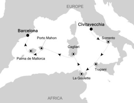 1 - Just Silversea Silver Spirit May 2-10 2016 Civitavecchia (Rome) to Barcelona