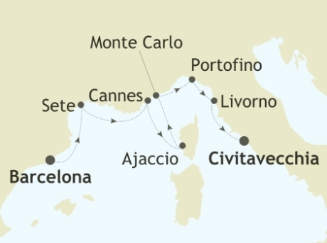 Singles Cruise - Balconies-Suites Silversea Silver Spirit May 23 June 1 2019 Barcelona to Civitavecchia (Rome)