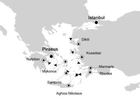 Singles Cruise - Balconies-Suites Silversea Silver Spirit October 1-10 2019 Istanbul to Athens (Piraeus), Greece
