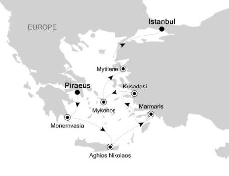 Singles Cruise - Balconies-Suites Silversea Silver Spirit September 3-10 2020 Piraeus, Greece to Istanbul, Turkey