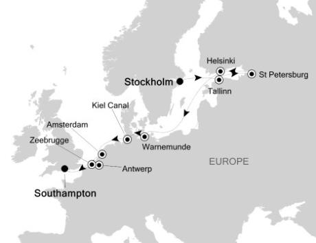 Singles Cruise - Balconies-Suites Silversea Silver Whisper August 11-22 2020 Stockholm, Sweden to Southampton, United Kingdom