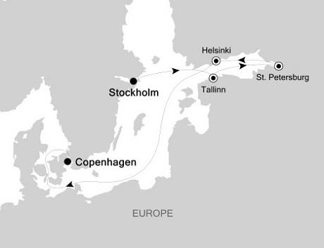 Luxury Cruises Just Silversea Silver Whisper August 19-26 2026 Stockholm to Copenhagen