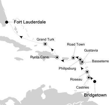 Silversea Silver Whisper December 1-11 2017 Bridgetown, Barbados to Fort Lauderdale, FL, United States