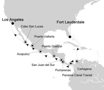 Silversea Silver Whisper December 19 2017 January 6 2018 Fort Lauderdale, FL, United States to Los Angeles, CA, United States