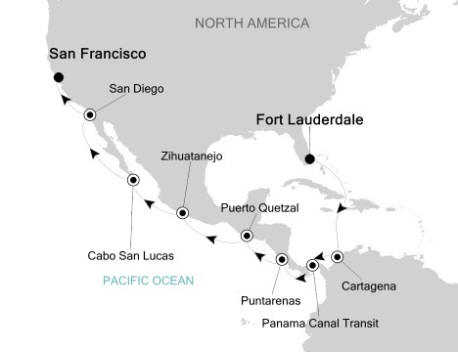 LUXURY CRUISE - Balconies-Suites Silversea Silver Whisper December 20 2019 January 4 2020 Fort Lauderdale, Florida to Fort Lauderdale, Florida