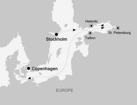 LUXURY CRUISES FOR LESS Silversea Silver Whisper July 11-18 2022 Stockholm to Copenhagen
