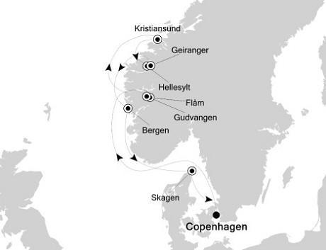 1 - Just Silversea Silver Whisper July 14-21 2017 Copenhagen, Denmark to Copenhagen, Denmark