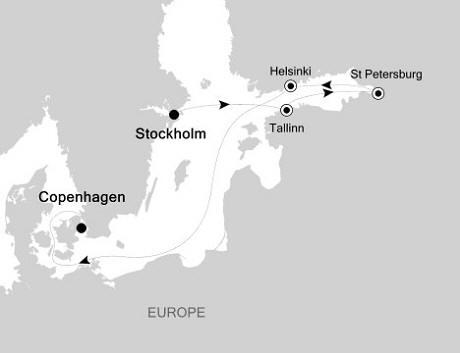 SINGLE Cruise - Balconies-Suites Silversea Silver Whisper July 7-14 2020 Stockholm, Sweden to Copenhagen, Denmark