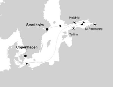 Silversea Silver Whisper June 3-10 2016 Copenhagen to Stockholm