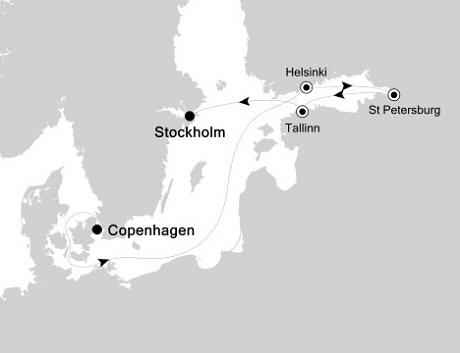 LUXURY CRUISE - Balconies-Suites Silversea Silver Whisper June 30 July 7 2020 Copenhagen, Denmark to Stockholm, Sweden