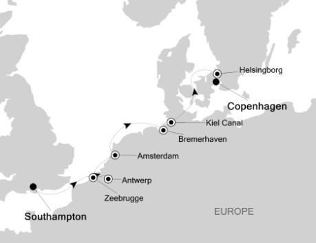 Singles Cruise - Balconies-Suites Silversea Silver Whisper May 28 June 10 2019 Southampton to Copenhagen, Denmark