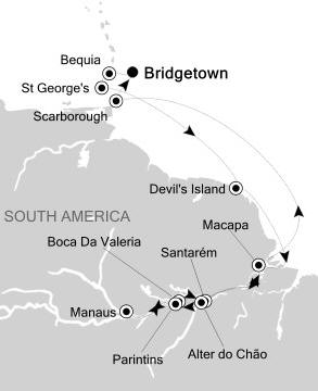 Singles Cruise - Balconies-Suites Silversea Silver Whisper November 13 December 1 2020 Bridgetown, Barbados to Bridgetown, Barbados
