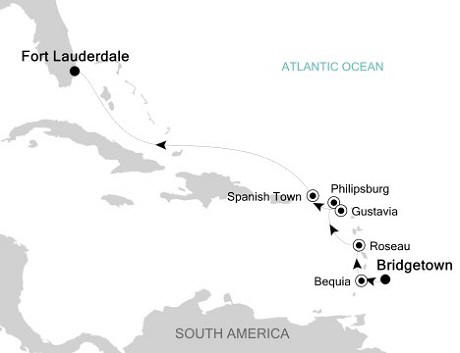 Silversea Silver Whisper November 3-11 2016 Bridgetown to Fort Lauderdale, Florida