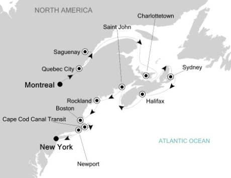HONEYMOON CRUISES Silversea Silver Whisper October 1-12 2021 Montreal, Canada to New York, NY, United States