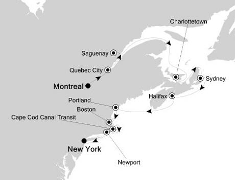 SINGLE Cruise - Balconies-Suites Silversea Silver Whisper October 23 November 2 2020 Montreal, Canada to New York, NY, United States