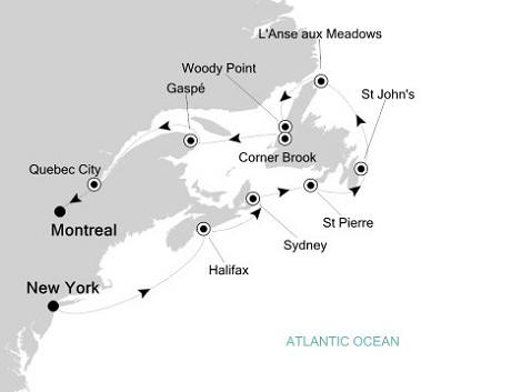 Silversea Silver Whisper September 19 October 1 2017 New York, NY, United States to Montreal, Canada