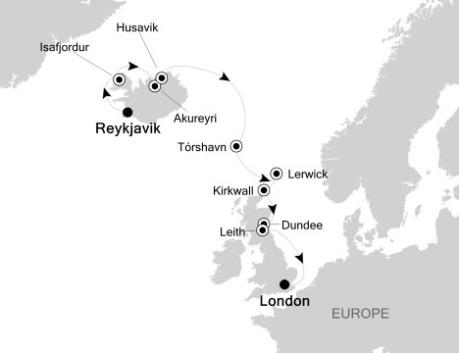 LUXURY CRUISE - Balconies-Suites Silversea Silver Wind August 12-24 2020 Reykjavík, Iceland to London, United Kingdom