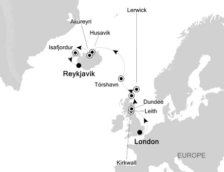 1 - Just Silversea Silver Wind August 5-17 2016 London (Tower Bridge) to Reykjavik