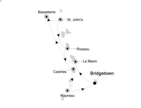 Singles Cruise - Balconies-Suites Silversea Silver Wind December 16-23 2020 Bridgetown, Barbados to Bridgetown, Barbados