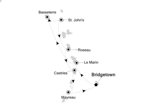 SINGLE Cruise - Balconies-Suites Silversea Silver Wind December 2-9 2020 Bridgetown, Barbados to Bridgetown, Barbados