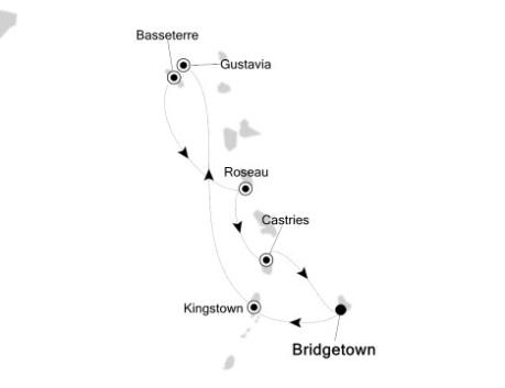1 - Just Silversea Silver Wind December 30 2017 January 6 2018 Bridgetown, Barbados to Bridgetown, Barbados