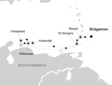 Silversea Silver Wind December 9-16 2017 Bridgetown, Barbados to Bridgetown, Barbados